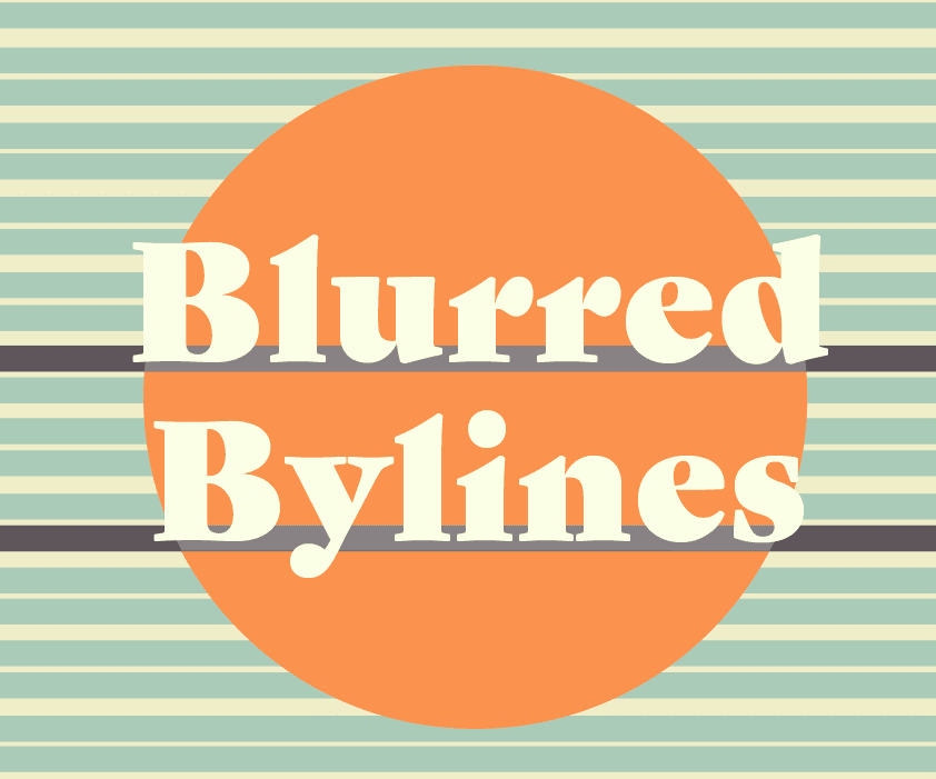 Blurred Bylines logo