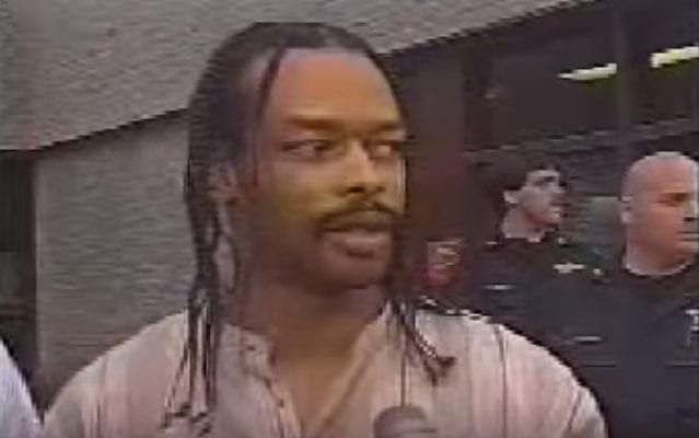 Issac Wright jr outside of court
