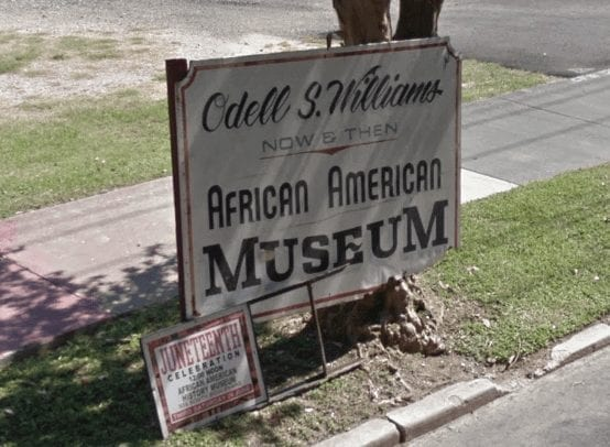 Sign of Odell S Williams Museum