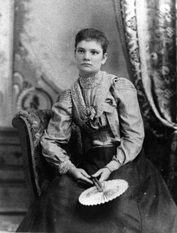 Single woman spinster in 1891 portrait