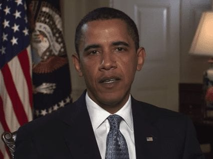 Obama speaks in a weekly address about the threat of H1N1 in the U.S.