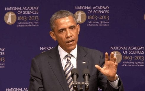 Obama speaks about importance of science during swine flu epidemic