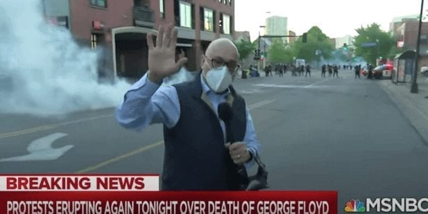 Journo Ali Velshi reports Minneapolis police activity during George Floyd protests.