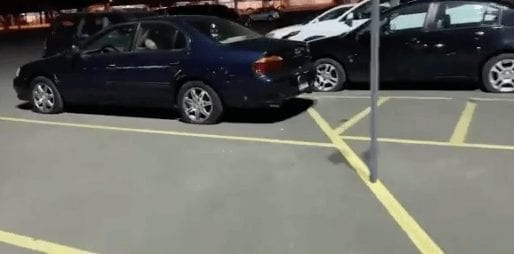 Others in Kmart parking lot with tires slashed.