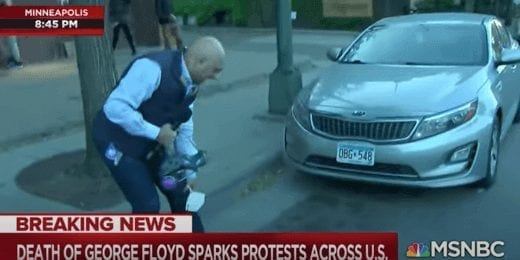 MSNBC's Ali Velshi hit with rubber bullet by MN police.