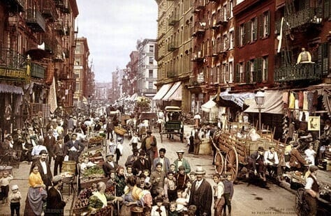 New York City Five Points Neighborhood, a known haunt of gangs