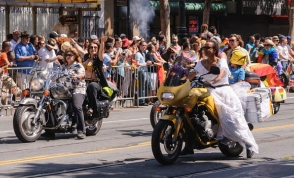 Dykes on Bikes at SF Pride Parade 2013