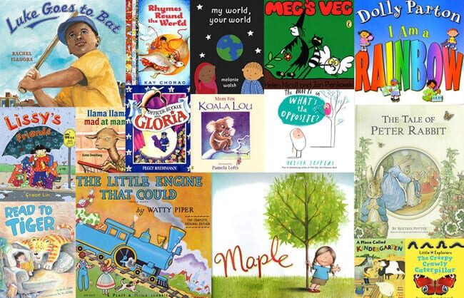 Examples of children's books delivered by Dolly Parton's Imagination Library