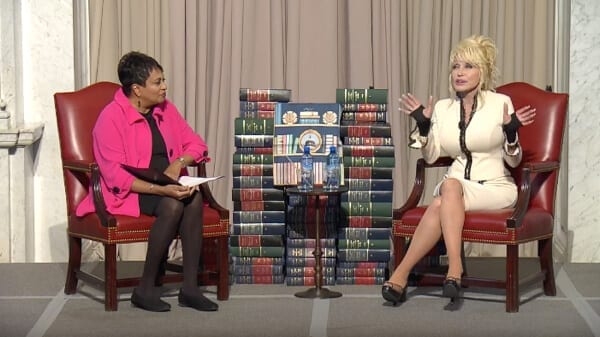 Dolly Parton speaks at the Library of Congress