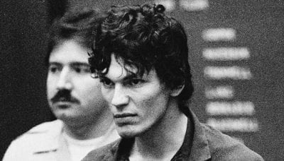 Richard Ramirez appears in court in 1985.